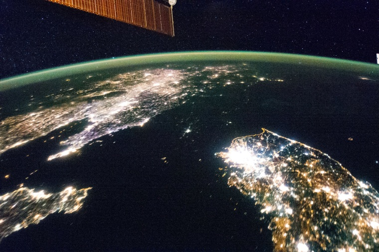 Image: Night satellite image of North Korea