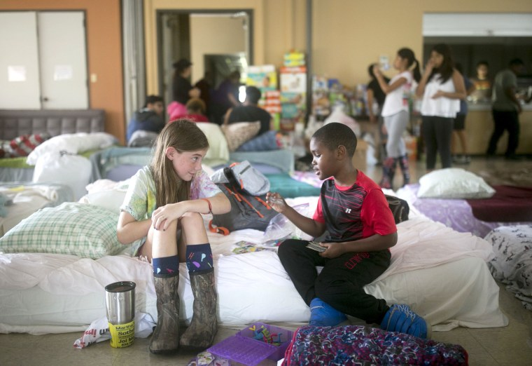 Image: Evacuee Centers in Houston