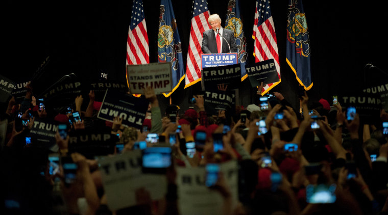 Donald Trump Campaigns In Pittsburgh