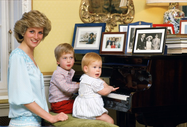 Image: Diana, Princess of Wales with her sons, Prince William and Prince Harry