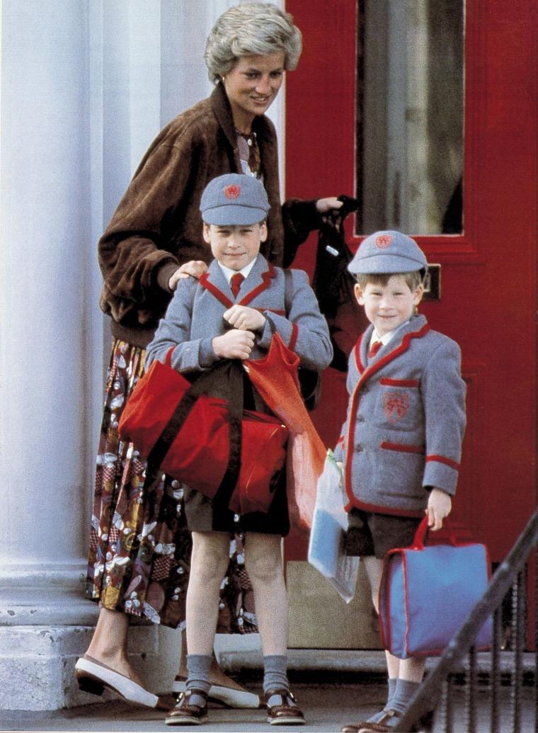 Image: Princess Diana, Prince William and Prince Harry
