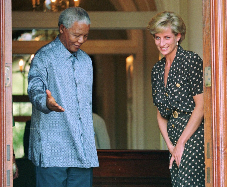 Image: Diana, Princess Of Wales, Nelson Mandela