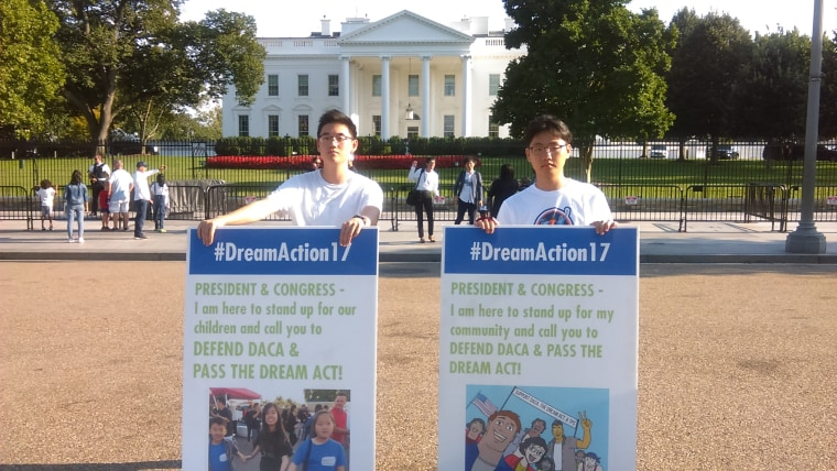 Daniel Yi and other DACA supporters are holding a round-the-clock vigil in front of the White House.