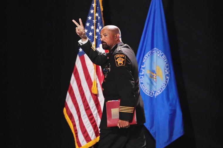 Image: David Clarke Jr., sheriff of Milwaukee County, Wisconsin