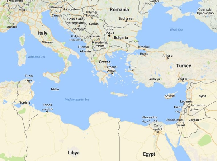 Image: Map showing the location of Libya