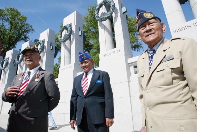 Image: Fillipino American World War II veterans