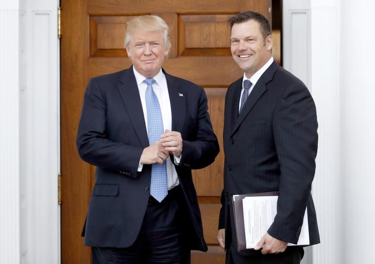 Image: Donald Trump, Kris Kobach