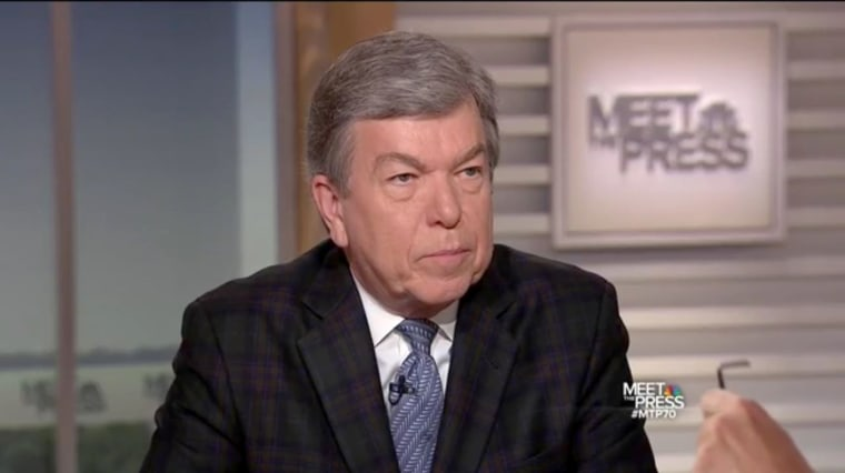 Image: Missouri Senator Roy Blunt appears on Meet The Press, Sept. 3, 2017.