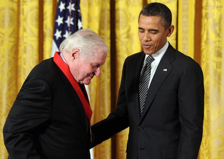 Image: John Ashbery and Barack Obama
