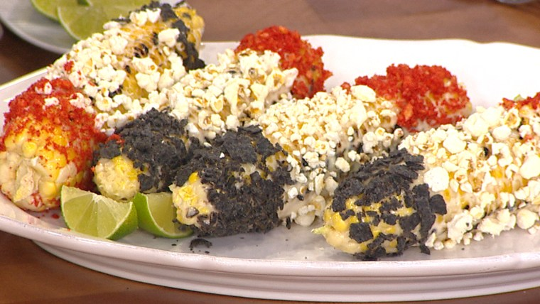 Red White & Blue Grilled Corn