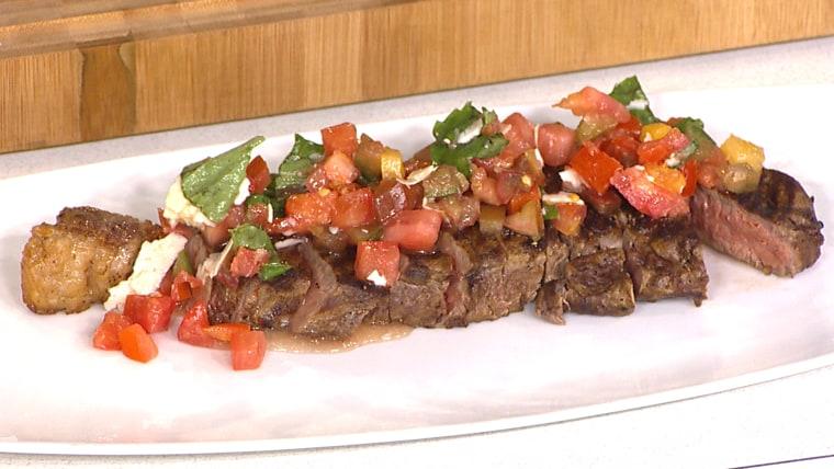 Easy Bruschetta Steaks