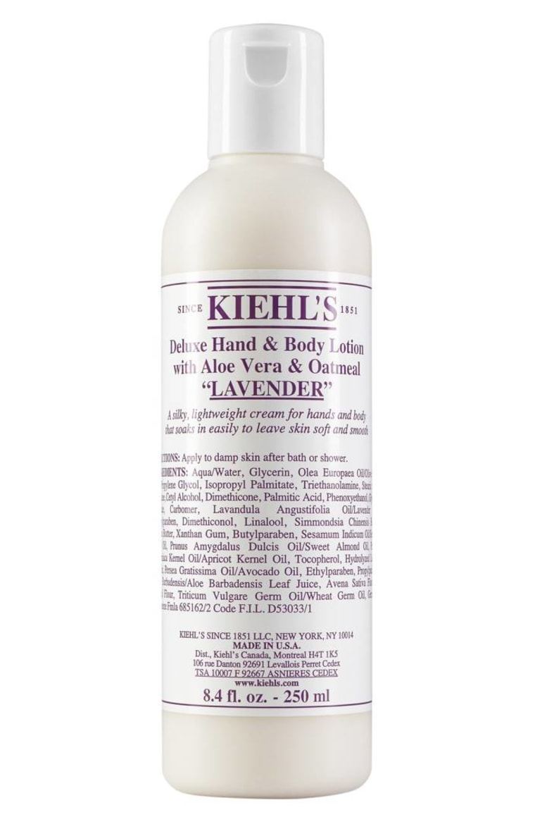 Kiehl's Deluxe Lavender Hand & Body Lotion with Aloe Vera & Oatmeal
