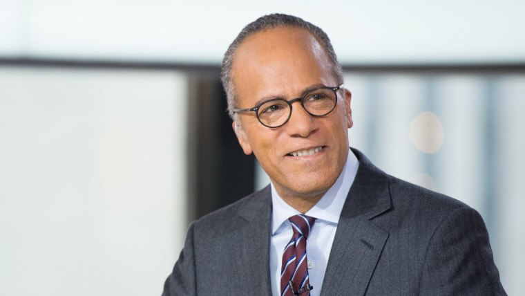 Image: Lester Holt at the Today Show desk. February 23, 2017.