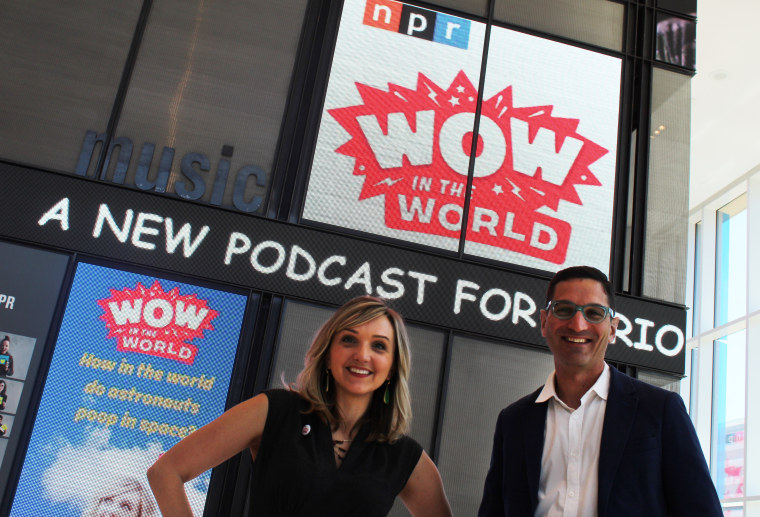 Guy Raz and Mindy Thomas began hosting NPR's first podcast for kids in May 2015.