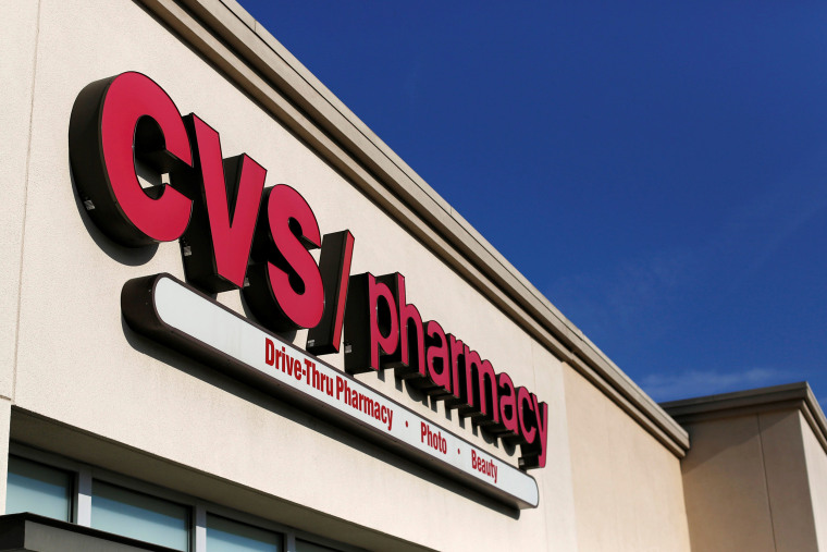 Image: The sign of a CVS Pharmacy store is pictured in Pasadena