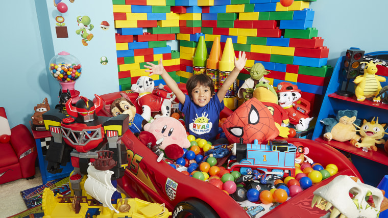 Ryan Toys Review - Most watched YouTube channel - Millennial Guinness World Records 2017 Photo Credit: Kevin Scott Ramos/Guinness World Records