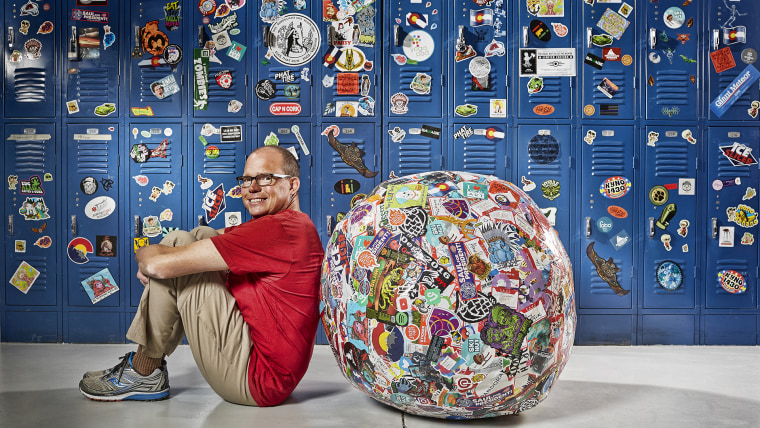 John Fischer - Largest Ball Of Stickers