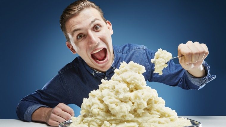 Andre Ortolf - Most Mashed Potato Eaten In One Minute