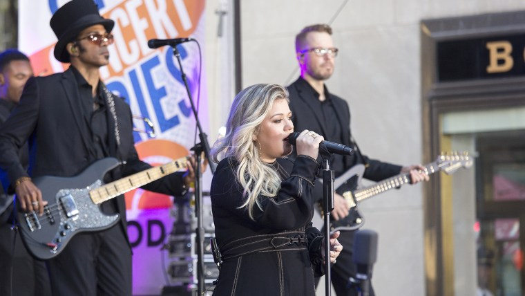 Kelly Clarkson performs on TODAY.