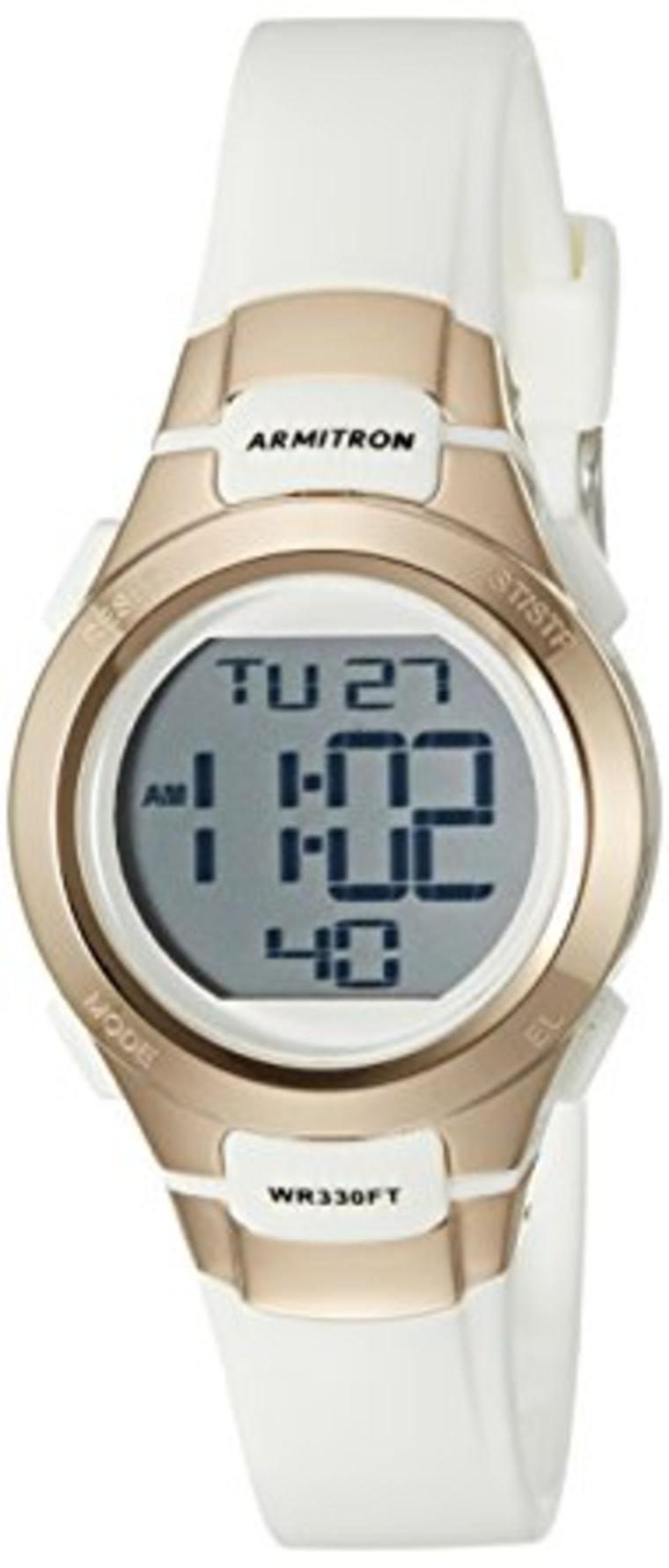 Waterproof gold watch