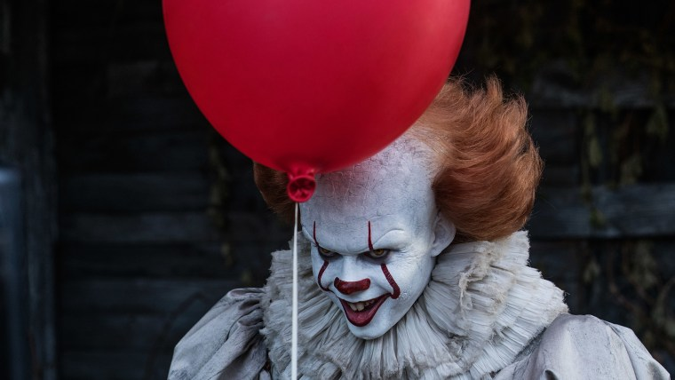 "In the movie ""It,"" the clown Pennywise is pure evil. is Are you scared right now?"