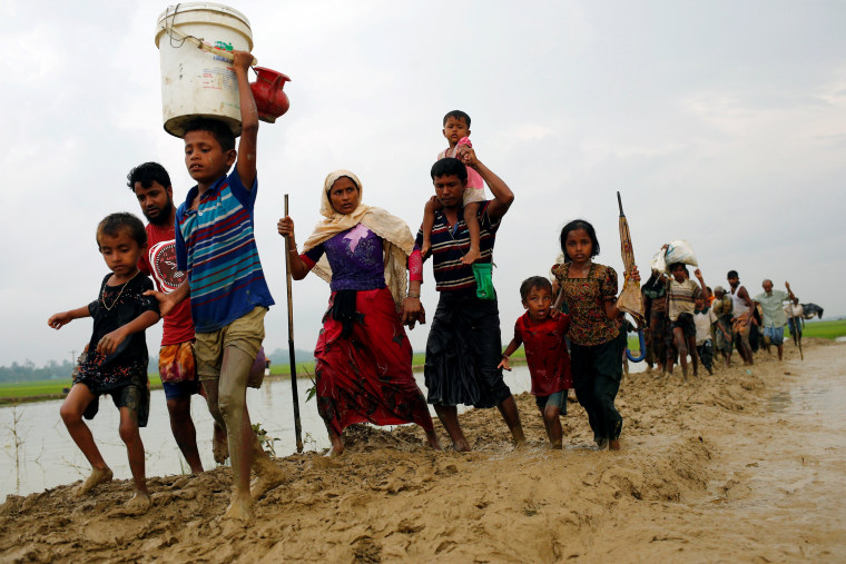 Image: Rohingya refugee after crossing the Bangladesh-Myanmar border