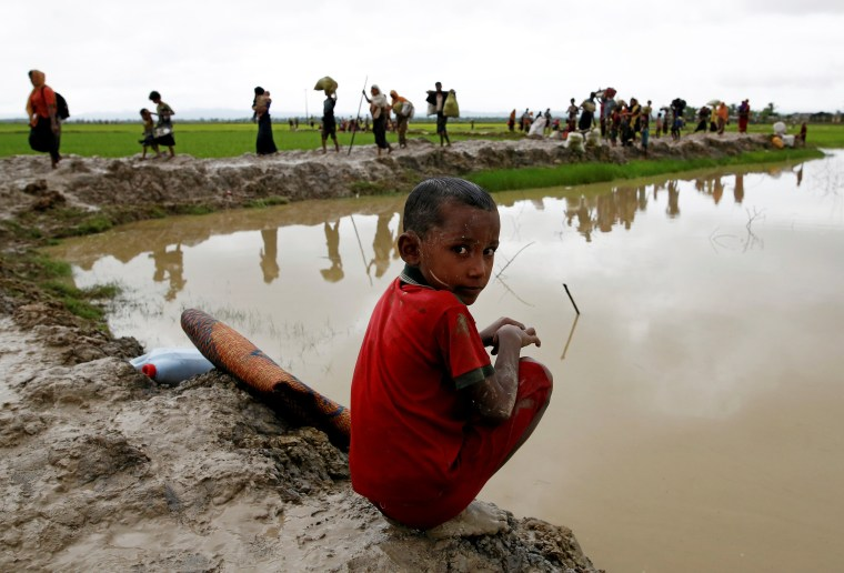 Image: A Rohingya refugee boy in Bangladesh