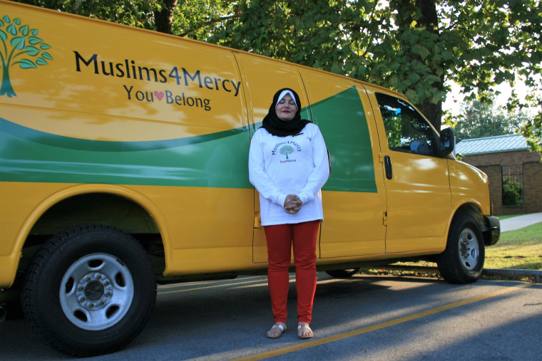 Oklahoma nonprofit Muslims4Mercy's van, which is expected to be used to ferry weekly donations.