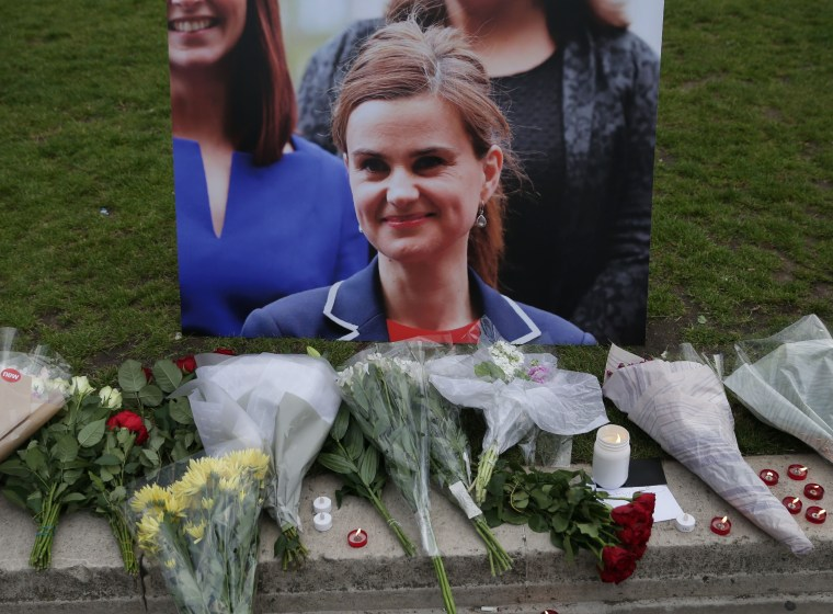 Image: A vigil for slain British lawmaker Jo Cox in 2016