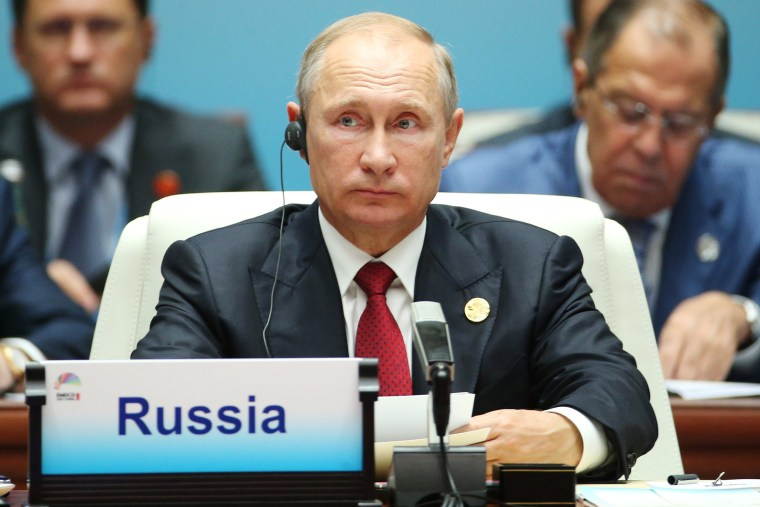 Image: Russian President Vladimir Putin attends the 'Dialogue of Emerging Market and Developing Countries' on the sideline of the 2017 BRICS Summit in Xiamen
