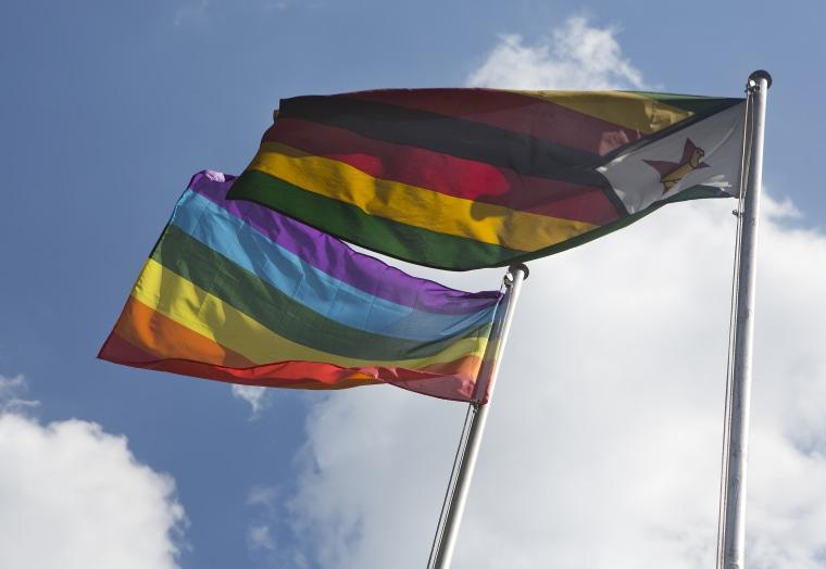 Image: Zimbabwe Flag, Pride Flag