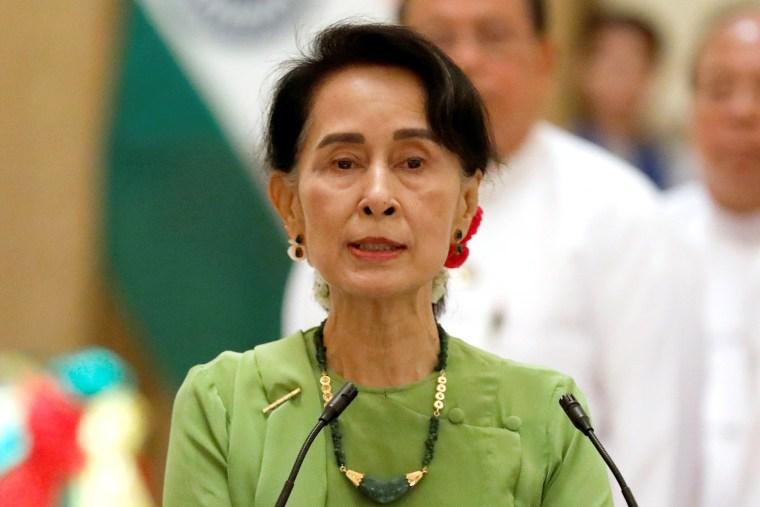 Image: Myanmar State Counselor Aung San Suu Kyi