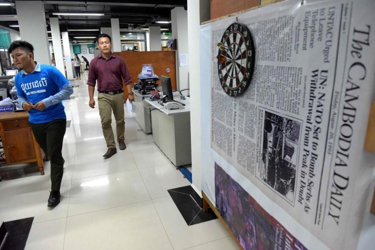 Image: CAMBODIA-POLITICS-MEDIA