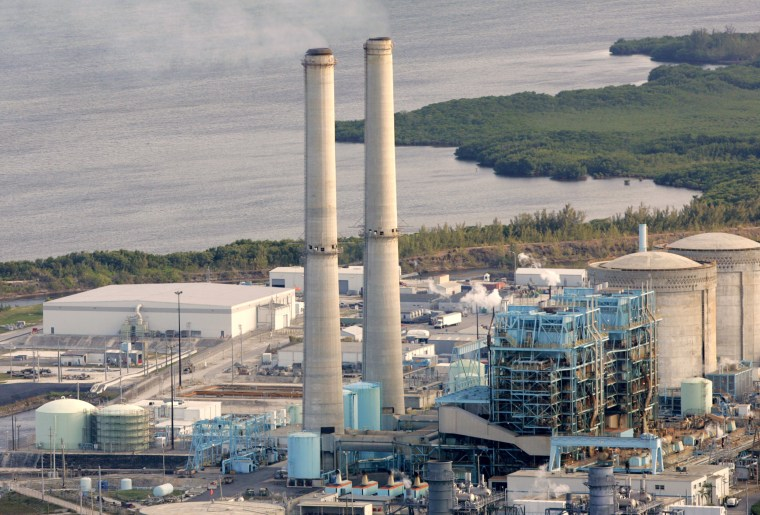 Image: Turkey Point nuclear plant located south of Miami Feb. 26, 2009.