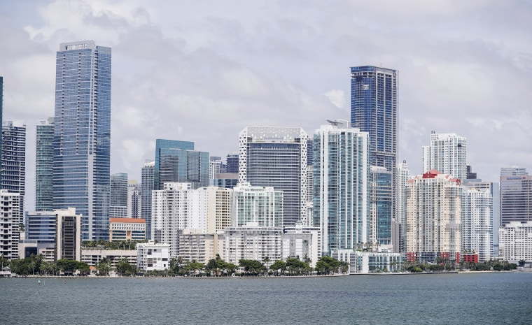 Image: The downtown Miami skyline and Biscayne Bay