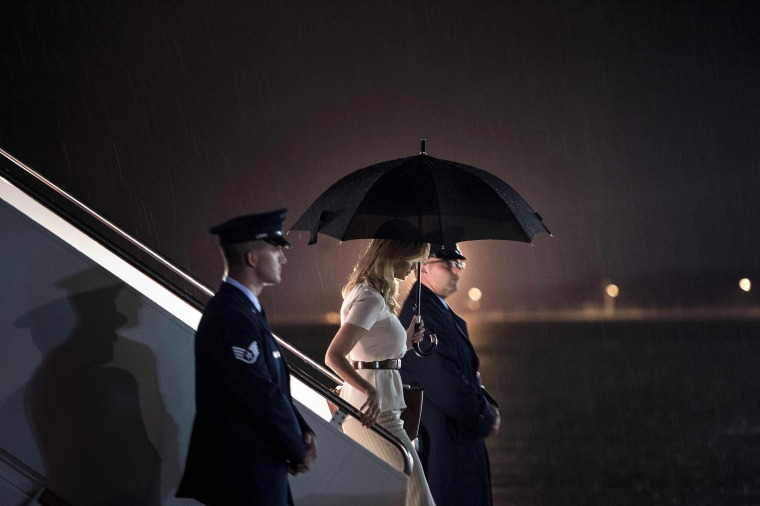 Image: Ivanka Trump arrives at Andrews Air Force Base
