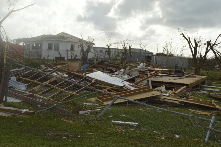 Image:Barbuda was battered by Hurricane Irma.