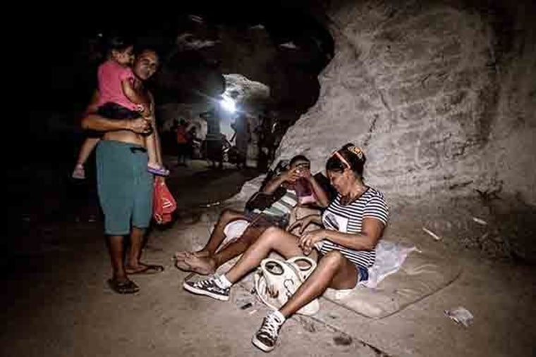 Image: Among the places used to shelter over a million Cubans evacuated by Civil Defense were 39 underground military bunkers dug over 20 years ago when the regime was convinced the island would be attacked by America.