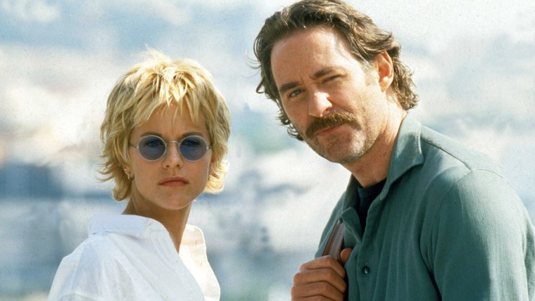 "Meg Ryan and Kevin Kline in 1995's  ""French Kiss"""