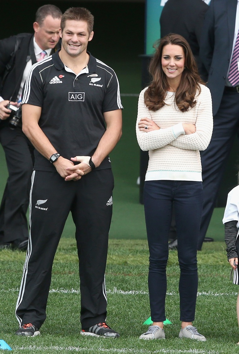 Kate, the Duchess of Cambridge, was a great example for the book's author when finding real-life royalty who wear pants.