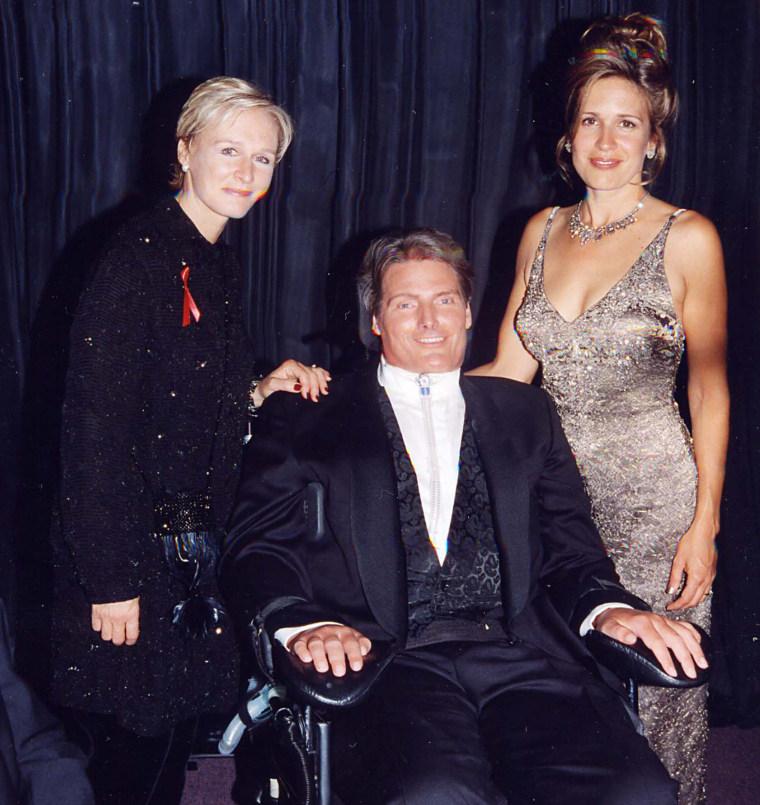 Glenn Close, Christopher Reeve & Dana Reeve