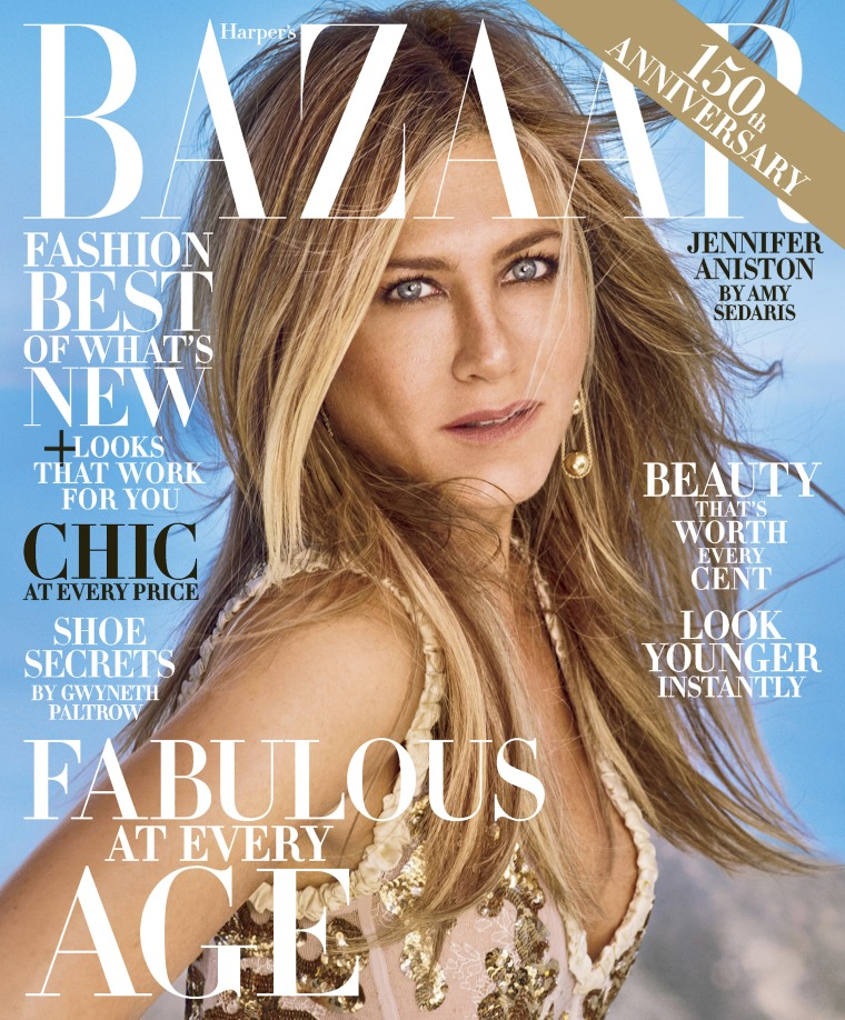 Jennifer Aniston on Harper's Bazaar - October 2017