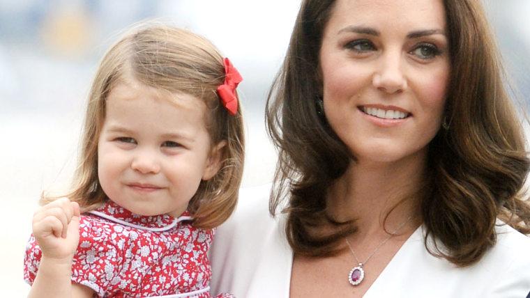 Princess Charlotte and Duchess Kate