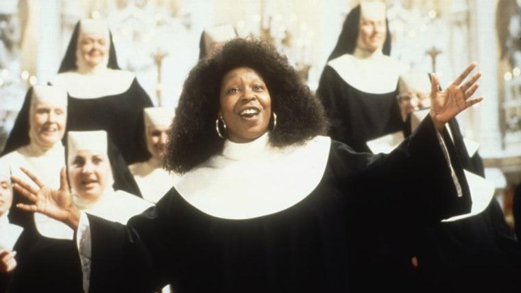 SISTER ACT, Whoopi Goldberg, 1992.