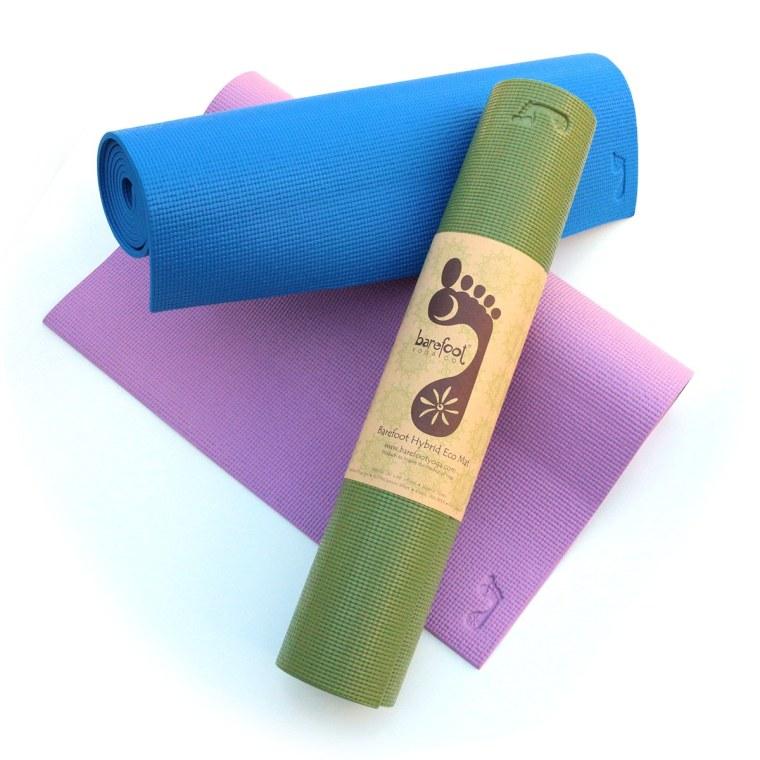 Barefoot yoga mats