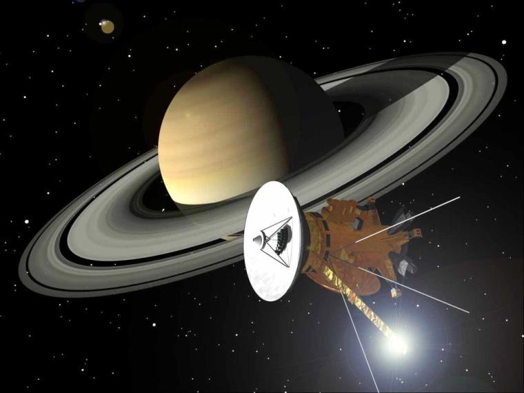 Image: Artist's concept of Cassini spacecraft