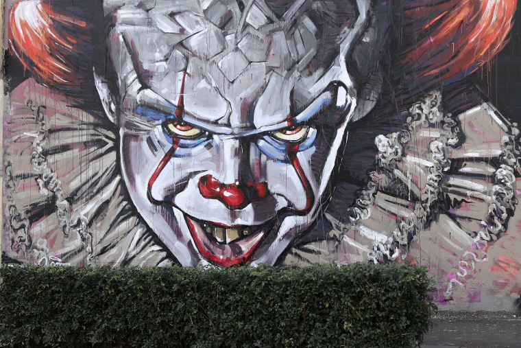 Image: Mural of Pennywise the Clown from 'It'