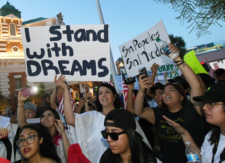 "Image: Hundreds Join ""Defend DACA"" March In Las Vegas"