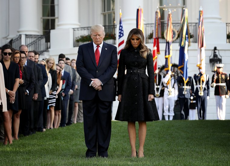 Image: President Trump And Melania Trump Lead Moment Of Silence For 9/11 Victims