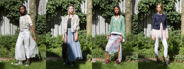 "A selection of looks from Yuna Yang's 2018 spring-summer collection, ""Save the Earth."""